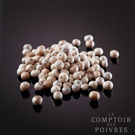 White Kampot PGI peppercorns
