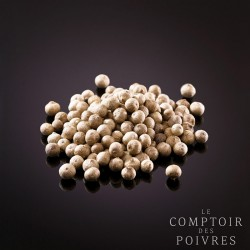 White peppercorns from Phu Quoc