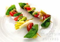 Salade niçoise en version brochette