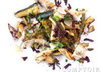 Poêlée de courgettes, asperges et artichauts