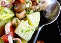 Salade de pomme de terre poulpe et olives