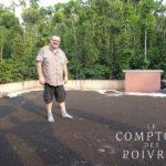 Olivier Derenne et le séchage du poivre dans le Kérala